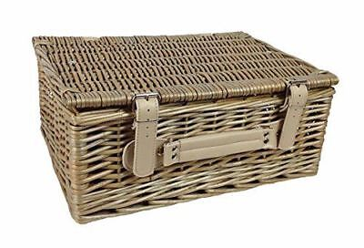36cm Antique Wash Picnic Basket