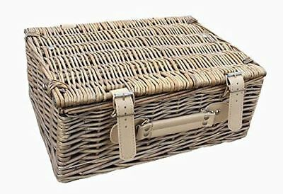 Wicker Willow 30cm Antique Wash Empty Picnic Basket