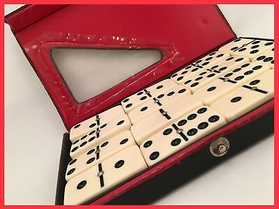 Vintage Case Of Double Six Standard Dominoes By Cardinal w Metal Spinners