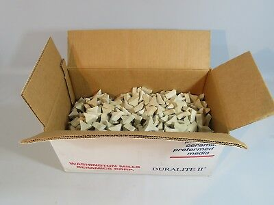 "CERAMIC TUMBLING MEDIA 25 pounds of 1-3/8"" x 1/2"" TRI STAR"