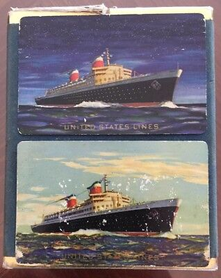 United States Lines SS UNITED STATES Playing Cards