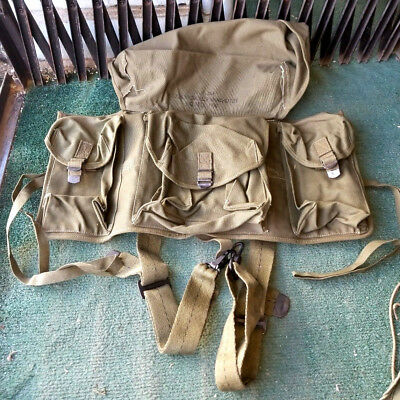 Vintage Authentic 1950 JQMD Canvas Medical Parachutist Pouch First Aid Kit Bag