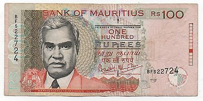 Mauritius 100 Rupees 2004 Pick 56 A Look Scans