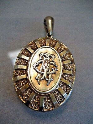 """Antique Victorian  Gold Wash Over Sterling Silver Locket 1.78 """" By 1.30 """""""
