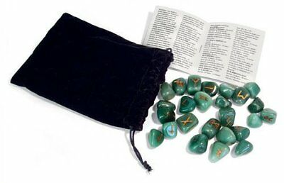 Green Aventurine Runes Bookshelf Edition