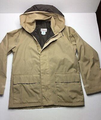 VINTAGE Orvis Goretex Jacket Tan Size Small Manchester Vermont Made in USA