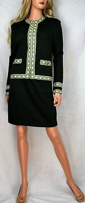 ST JOHN COLLECTION BY MARIE GRAY Embellished Santana Knit Suit Size S/8