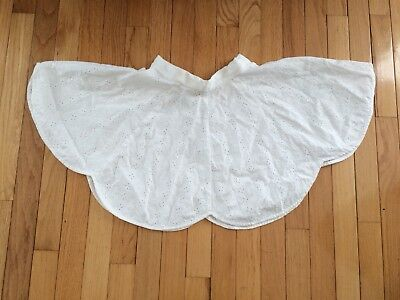 "VINTAGE1950's WHITE EYELET *CIRCLE SKIRT* - GIRLS 22"" WAIST /15"" LONG"