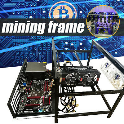 Crypto Coin Open Air Mining Frame Rig Steel Case Set For 6 GPU Ethereum ETH BTC