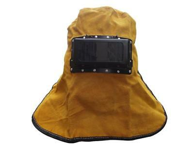 Portable Leather Hood Welding Helmet Mask Solar Darkening Filter Lens Welder