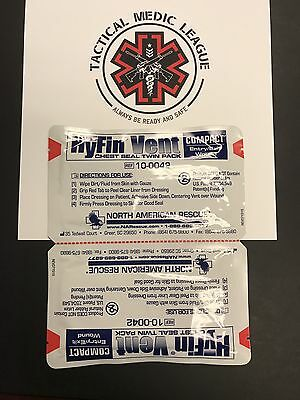 North American Rescue Hyfin Vent Compact Chest Seal Twin Pack (Exp 10-2021)