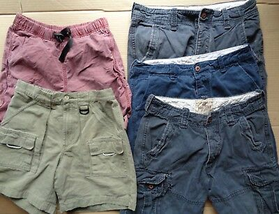 5 Lot Hollister Columbia Eddie Bauer Navy Red Brown Cargo Shorts Mens S 30 32 33