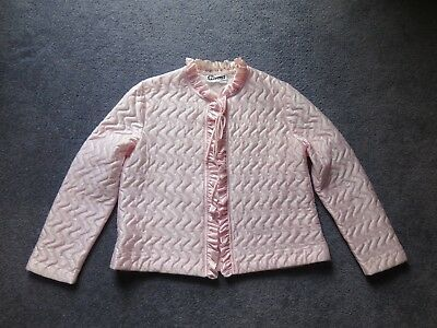 Vintage Style Baby Pink Quilted Bed Jacket Size 14