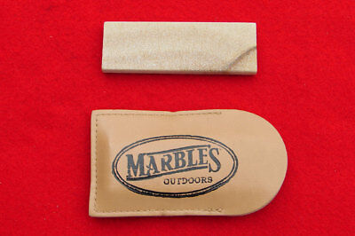 Marble's USA Knife Sharpener - Arkansas Soft Stone w/ Leather Sheath - Hone