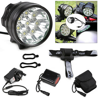 Super Bright CREE 35000LM T6 LED Bike Light Headlight Bicycle Headlamp Torch uk