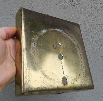 heavy Tole metal brass plated base vintage old for repair sconce backplate