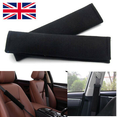 2 x Car Seat Belt Pads Harness Safety Shoulder Strap Back Pack Cushion Covers UK