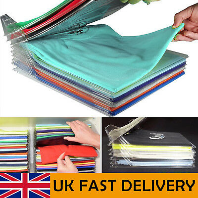 10 PACK Magic T-Shirt Folder Home Clothes Organizer Folding Board Adult Kid