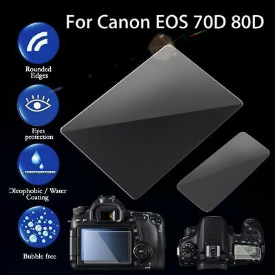 HD / Tempered Glass LCD Screen Protector Guard Cover For Canon EOS 70D 80D