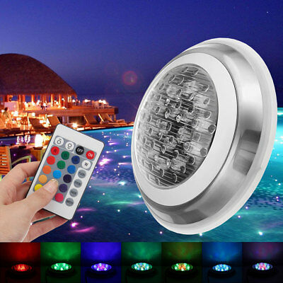 24V 15W RGB Swimming Pool LED Light 7 Color Underwater Lamp + Remote Control