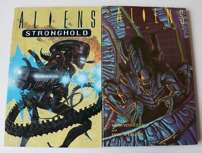 Aliens Book One 1990 (First Edition) - Aliens Stronghold 1996 (First Edition)