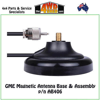 Gme Magnetic Uhf Cb Radio Antenna Aerial Base & Assembly - Ab406