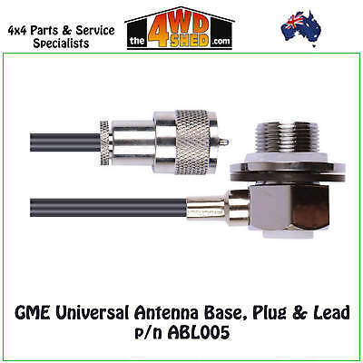 GME LEAD & PLUG ASSEMBLY suits AE409L FOLD DOWN ANTENNA - ABL005