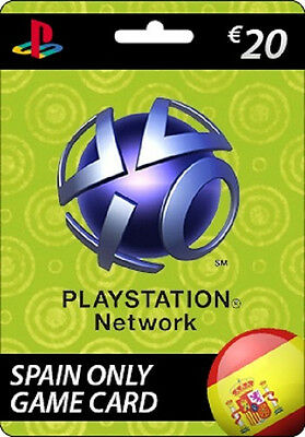SONY PSN Playstation Network Card 20 EUR SPAIN ONLY PS3 PS4