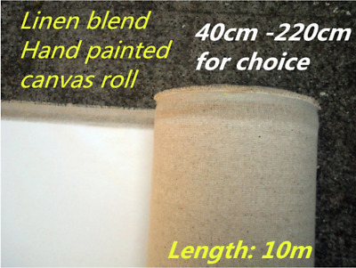 Primed Canvas Roll Oil Painting Blank Linen Blend High Quality Artist Supplies