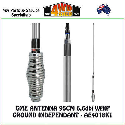 GME ANTENNA 95CM 6.6dbi WHIP GROUND INDEPENDANT UHF CB FRADIO AERIAL - AE4018K1