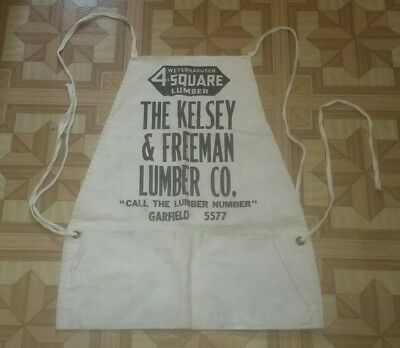 Kelsey & Freeman 4 Square Lumber Company Toledo TOOL APRON POUCH CANVAS SMOCK