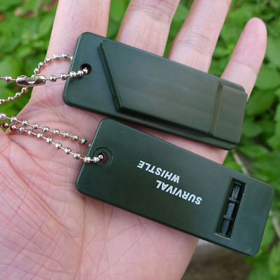3-frequency Emergency Whistle with Keychain Safety Outdoor Survival Camping