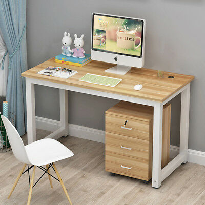 Computer Desk PC Laptop Table Workstation Home Office Furniture Wooden & Metal