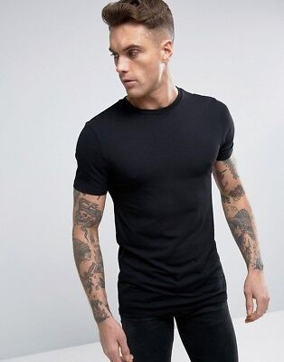 Mens Fitted Plain T Shirt 8 Colours Training Workout Uk Bodybuilding Gym Fitness