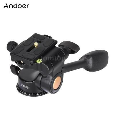 Q08 Video Tripod Fluid Ball Head 3-way Quick Release Plate for DSLR Camera Z6T5