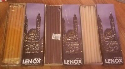 3 boxes of Lenox Tiny Tapers 10-Inch Candles 505 Brand New In Box - 36 total