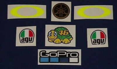 ** New  2018 **  Valentino Rossi  Helmet Kit Set Visor Sticker Decal Moto Gp
