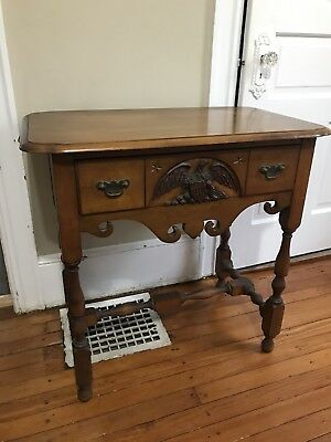 Berkey & Gay Old Ironsides Antique Table American Naval History Americana