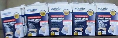 Lot of 15 Equate Nasal Strips 10 Clear & 5 Tan Extra Strength