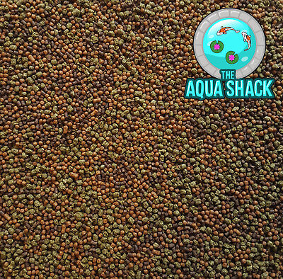 Goldfish Pellets Premium Tricolour Floating & Sinking Fish Food Coldwater Bulk