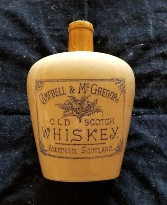 Campbell & McGregor Whiskey Jug Aberdeen Scotland Barrowfield Pottery H. Kennedy