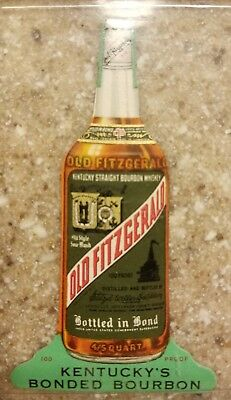 Old Fitzgerald BIB Stitzel Weller Advertising Mini Bottle -Whiskey Bourbon Paper