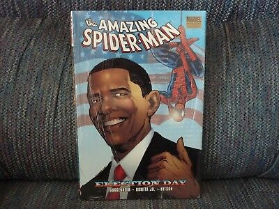 THE AMAZING SPIDER-MAN - Election Day - Marvel Premiere Edition - Hardcover Book