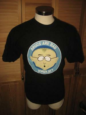 Comedy Central South Park Mr Mackey Drugs Are Bad Mmmkay T Shirt XL Mint