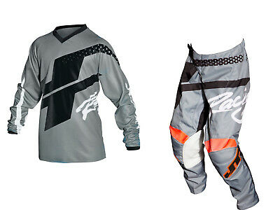 Youth MX Gear, JT Racing USA-2018 Youth Flex Hi-Lo Jersey & Pants , Grey/Black