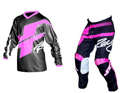 Youth MX Gear, JT Racing USA-2018 Youth Flex Hi-Lo Jersey & Pants , Black/Pink