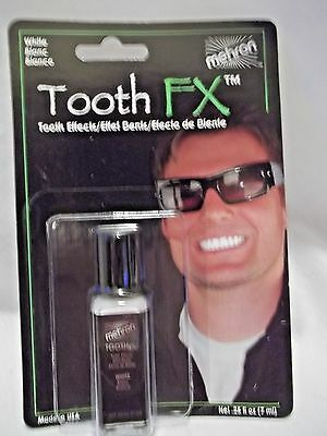 Tooth White Teeth Whitening FX .Mehron Paint Brush On White Theatrical