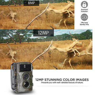 "XT-453 12MP 1080P Full HD Trail Infrared Wildlife Camera 2.4"" LCD Screen lot BL1"