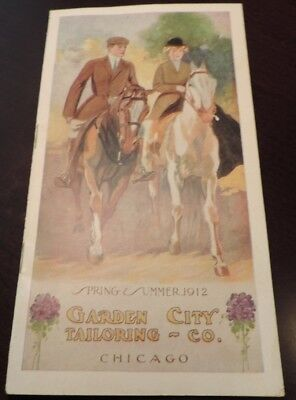 1912 GARDEN CITY TAILORING CHICAGO IL Brochure illustrated suits New Melle MO