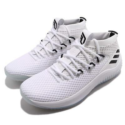 104e2e3605438 adidas Dame 4 Damian Lillard White Black Men Basketball Shoes Sneakers  AC8646